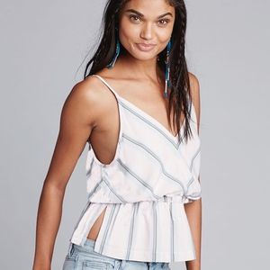 (FREE PEOPLE) Psychedelic Summer Striped Top